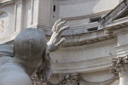Un particolare della fontana dei fiumi, piazza Navona, Roma (foto di G. Conti)