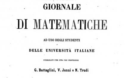 """Frontespizio della rivista """"Giornale di Matematiche"""", fonte Hathi Trust"""