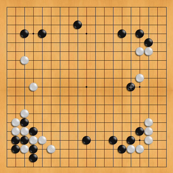La mossa numero 19 di AlphaGo nella seconda partita contro Lee Sedol, ritenuta particolarmente originale dai giocatori professionisti.