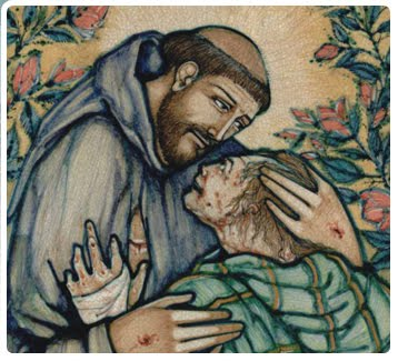 San Francesco e il lebbroso
