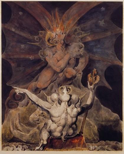 Il Numero della Bestia è 666, dipinto di William Blake (fonte wikipedia.org)